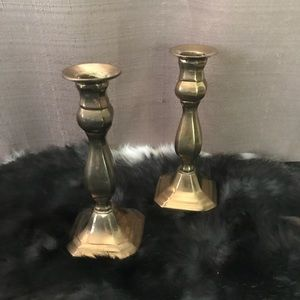 Other - Vintage brass candlestick set